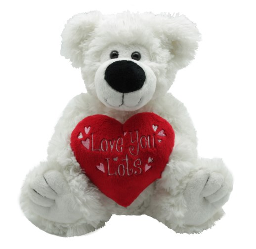 White 'love you lots' Valentine Bear