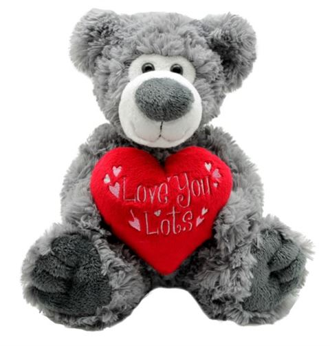 Grey 'love you lots' Valentine Bear