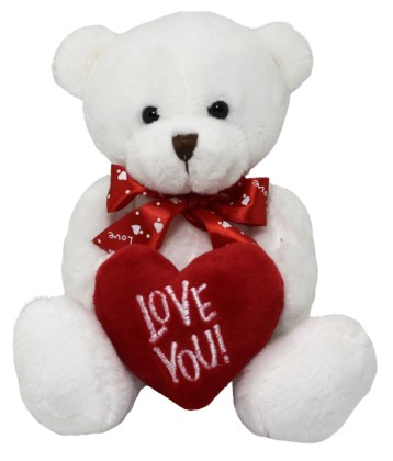20cm Love You White Bear