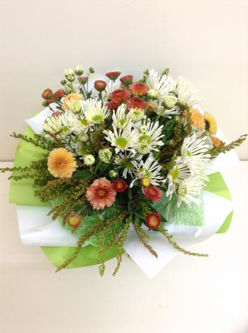 Small Mixed Chrysanthemum Hand Tied Bouquet